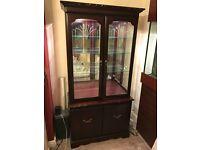 John E Coyle Furniture (2 display cabinets, tv stand, hifi cabinet)