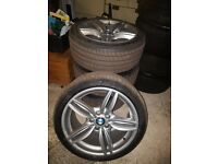 "BMW 19"" 351 M Sport Alloys WITH MICHELIN TYRES F10 F12 F06 F13 5 6 3 Series STAGGERED SET 520 535D"