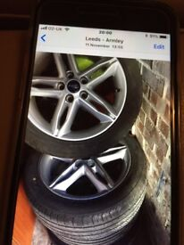 Ford Focus alloy wheels new tyres