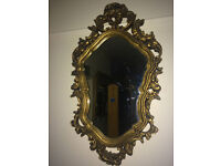 Exquisite Antique Style French Rococo Ornate Wall Mirror Gilt Wood Frame