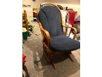Solid wood glider rocking chair