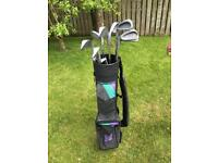 Left handed junior golf clubs. Good condition.