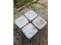 370 x Concrete paving stones