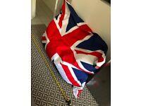 Union Jack bean bag. (Large)