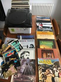 Vinyl collection + turntable