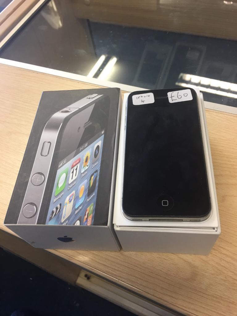 IPhone 4 black unlockedin Hodge Hill, West MidlandsGumtree - iPhone 4 black unlocked to all networks. In good condition. Boxed with charger. £60 no offers Check out my other items