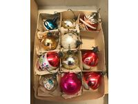 I am selling 23 vintage Christmas baubles, all made of glass.