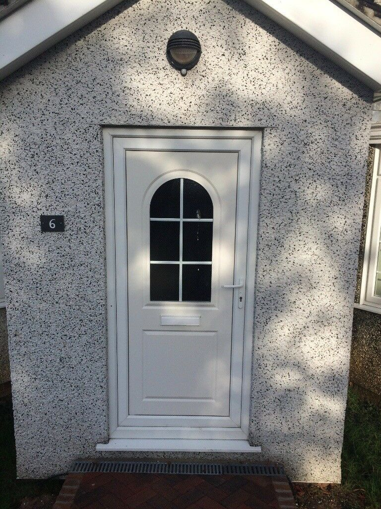 Euc Front Door Upvc Security And Double Glazed Incl Frame And Cill
