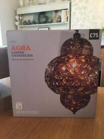 NEXT Copper Chandelier - Brand new in box never used