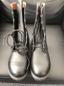 Black Army/Cadet Boots size 5.