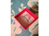 Beautiful Hallmarked 9ct 375 Gold Diamond & Sapphire Half Eternity Ring Size L