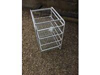 Ikea White 4xWire Basket Drawers. Storage for bedroom/kitchen/office/garage