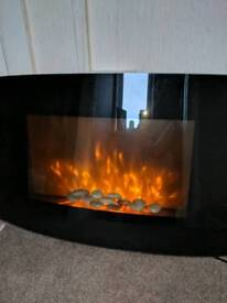 Electric wall fire barely used