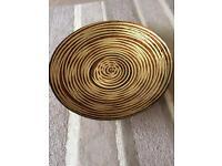 Large swirl patterned decorative bowl