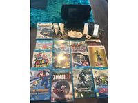 Wii U Premium (32GB) Ultra Bundle inc 12+ top Games, 4 controllers, 2 nunchucks + all cables