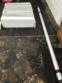 Metal van shelving and pipe tube