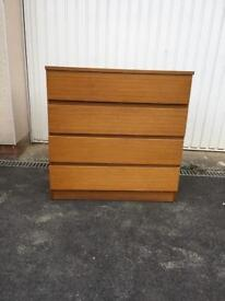 Retro 1970s chest of drawers, bargain free delivery
