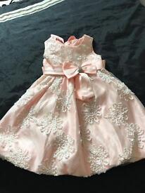 Beautiful peach and white dress 2-3 years