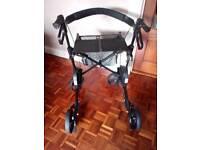 Mobility walker Volito rollator 4 wheels seat,tray,bag,brakes
