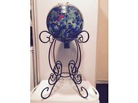 Decorative Globe Free Standing Oil Lamp - Suitable for Garden or Indoor use