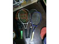 4x tennis rackets with cases