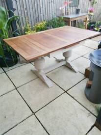 Beautiful extending art deco draw leaf table