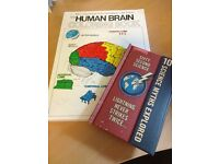 The Human Brain Colouring Book never used & 10 Science Myths Explored Book Bundle