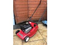 Mountfield petrol lawnmower with rear roller push mower