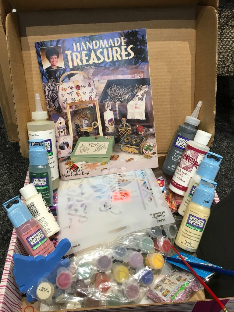 Plaid Handmade Treasures craft kit, glass painting, stencilling etc.
