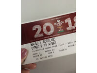Six Nations Rugby 2018 - Wales Vs. Scotland (03-02-2018) One ticket available! Great seat!