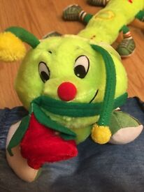 "BRAND NEW CATERPILLAR - SOFT TOY WITH ""LOVE YOU"" (NEVER USED)"