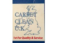 "CARPET CLEAN U.K. ""CARPET AND UPHOLSTERY CLEANERS"""