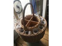 Champagne flute events picnic basket