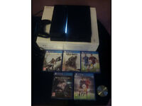 Playstation 4 500GB with 5 games