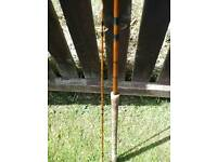 Vintage split cane fishing rod