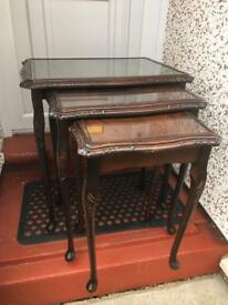 French style nest of tables
