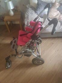 Small child pram wheelchair