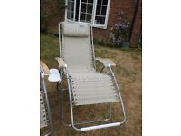 Kampa Opulence deluxe Reclining Chairs with Foot Rests Head Rest Padsand Drinks Holder