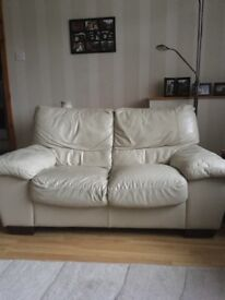 Two seater leather seater