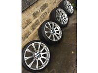 "4 x 18"" BMW alloys wheels Excellent Tyres Not Staggered"