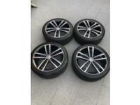Genuine 18in Vw Golf Mk 7.5 GTD Sevilla allloys and tyres (Volkswagen Audi Seat Skoda Jetta Caddy)