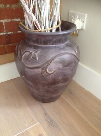 Large Vase Ideal for Grasses or Twisted Willow Christmas