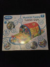 Playgro Musical Puppy Tunnel Gym