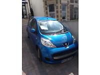 Peugeot 107 Verve Blue 2009 5dr Alloy Wheels Air Con Aux-in 72k miles