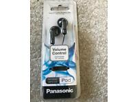 Panasonic volume control earphones-brand new