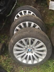 BMW 5 series gt f07 19inch alloy wheel set x4 with tyres