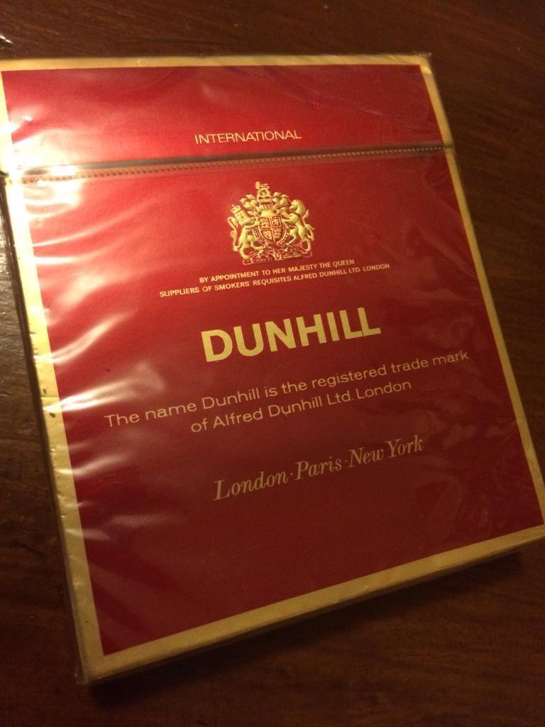 Vintage Dunhill Cigarettes Sealed In Llangennech
