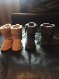 2 pair infant girls size 5
