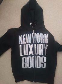 Black New York Luxury Goods Hoody