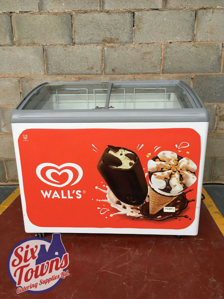 AHT Ice Cream Display Shop Chest / Well Freezer / 1m / LED
